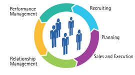 Insurance Agent effectiveness solution: Recruiting, Performance management, Relationship management, Sales and Execution, Planning
