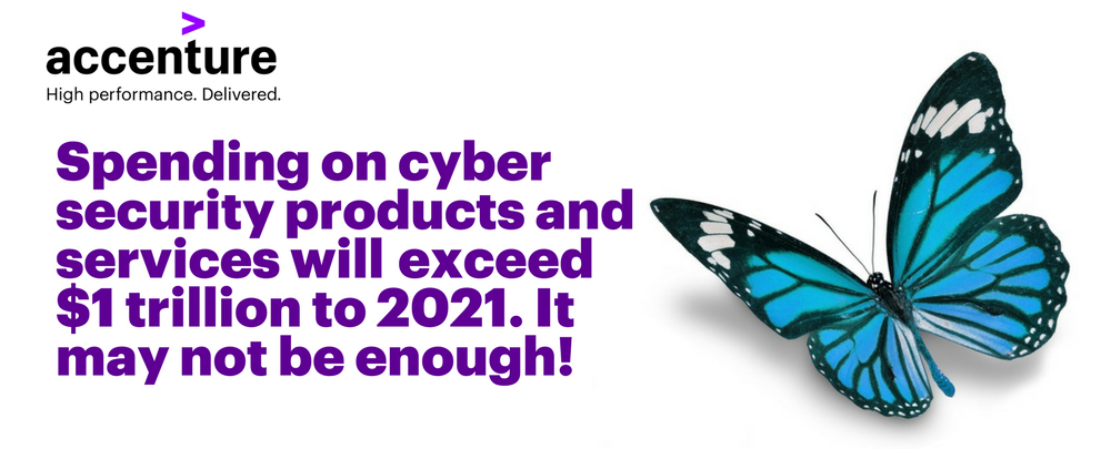 Spending on cyber security products and services will exceed $1 trillion to 2021. It may not be enough!