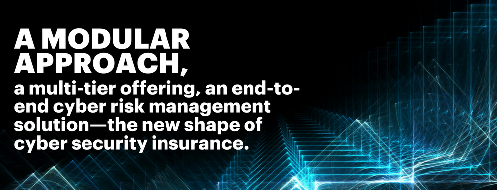 A modular approach, a multi-tier offering, an end-to-end cyber risk management solution—the new shape of cyber security insurance.